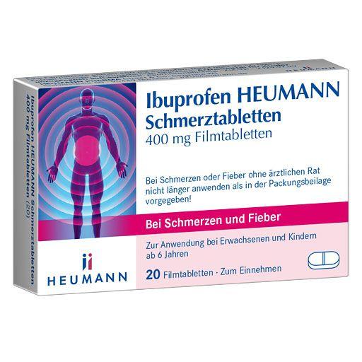IBUPROFEN Heumann Schmerztabletten 400 mg 20 St