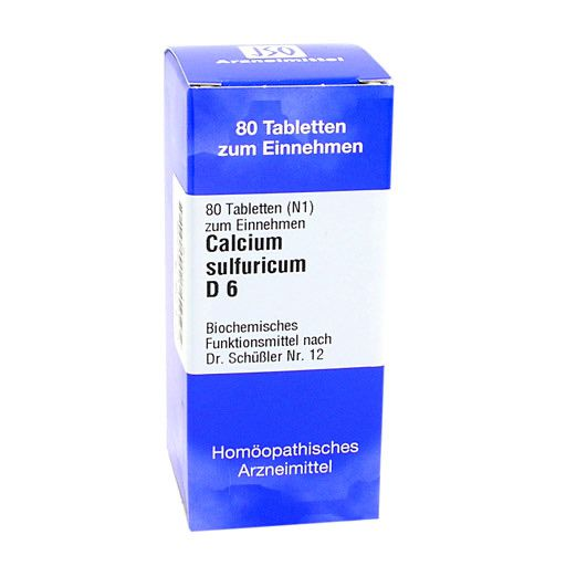 biochemie 12 calcium sulfuricum d 6 tabletten 80 st. Black Bedroom Furniture Sets. Home Design Ideas