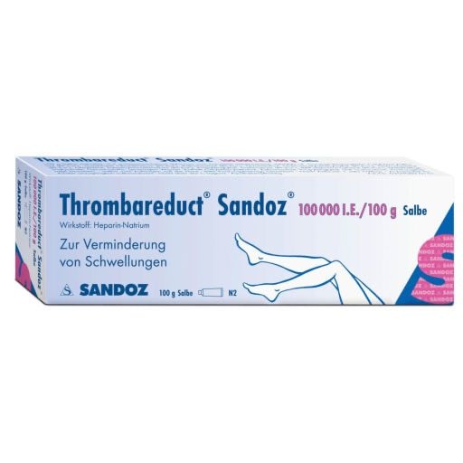 THROMBAREDUCT Sandoz 100. 000 I. E.  Salbe
