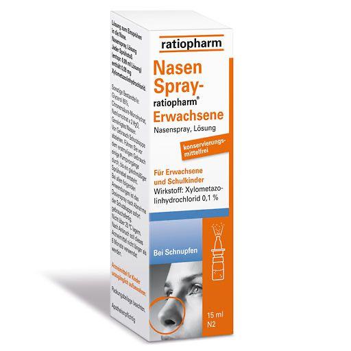 NASENSPRAY ratiopharm Erwachsene kons.frei 15 ml - Nasenspray ...