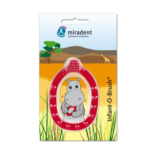 MIRADENT Kinder-Lernzahnbürste Infant-O-Brush rot