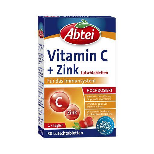 abtei vitamin c plus zink lutschtabletten 30 st 2 1 g. Black Bedroom Furniture Sets. Home Design Ideas