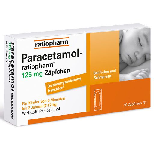 PARACETAMOL ratiopharm 125 mg Sgl. -Suppositorien