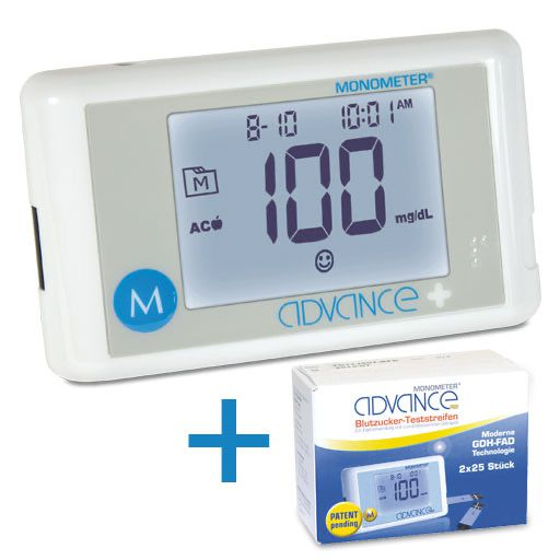 ADVANCE Plus Monometer Blutzuckermessgerät SPARSET MG/DL
