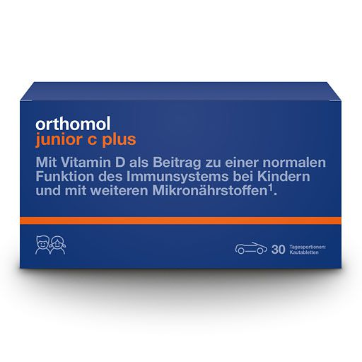 ORTHOMOL Junior C plus Kautabl. Mandarine/Orange