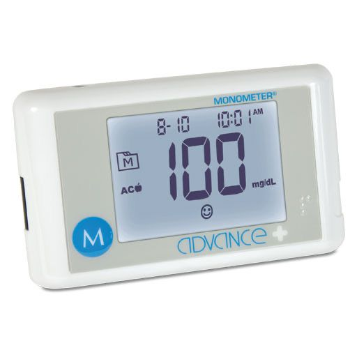 ADVANCE Plus Monometer Blutz. Mes. Starterset mg/dl