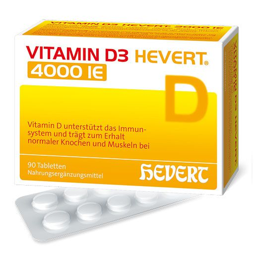 VITAMIN D3 HEVERT 4. 000 I. E.  Tabletten