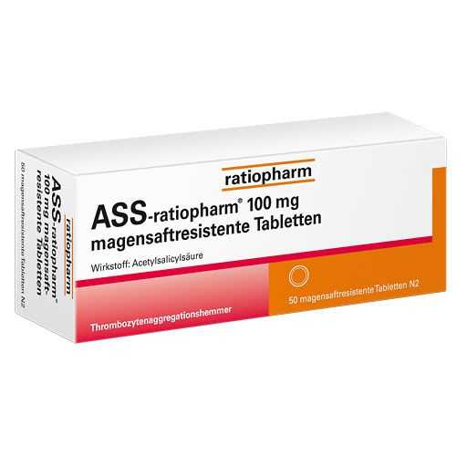 ASS-ratiopharm 100 mg magensaftres. Tabletten