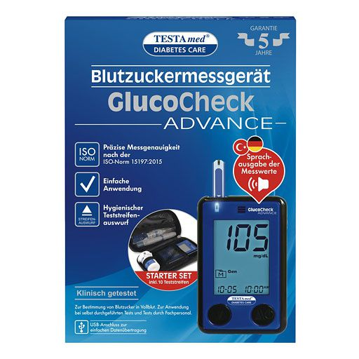 TESTAMED GlucoCheck Advance Star. -Kit mg/dl mmol/l