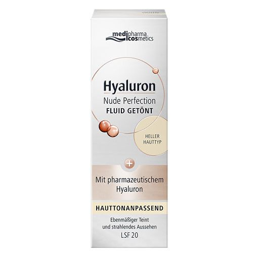 HYALURON NUDE Perfect. Fluid getönt hell. HT LSF 20