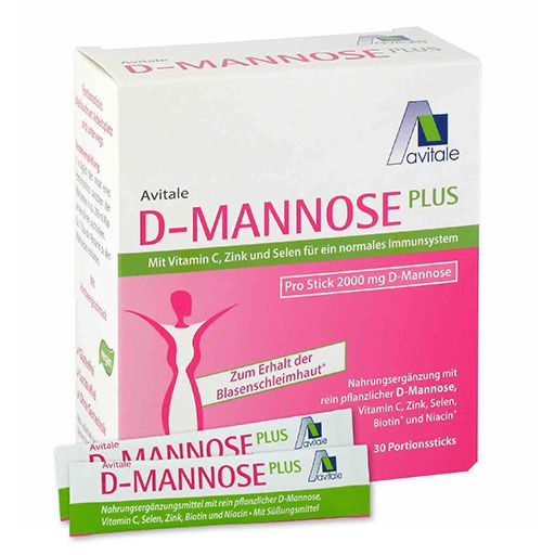 D-MANNOSE Plus 2000 mg m. Vit. u. Mineralstof. Sticks